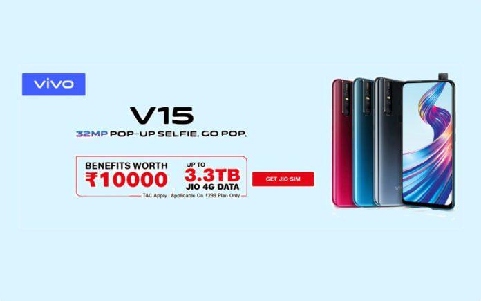 Jio Vivo Cricket Offer: Grab Vivo V15, V15 Pro with Rs 10000