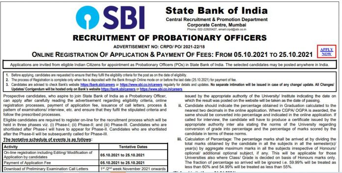 SBI PO Recruitment 2021: Bumper recruitment for the post of PO in State Bank, know how to apply?